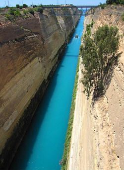 Christian Greece Corinth canal